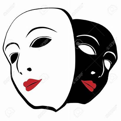 Mask Masks Clipart Theater Vector Clip Stage
