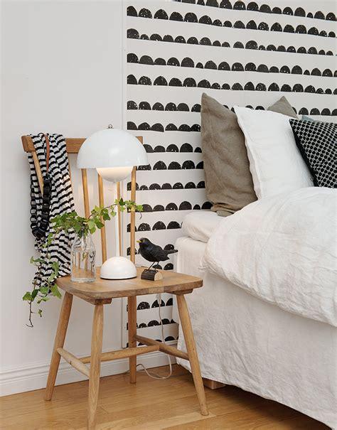 chambre blanc et noir papiers peints de marques inspiration décoration