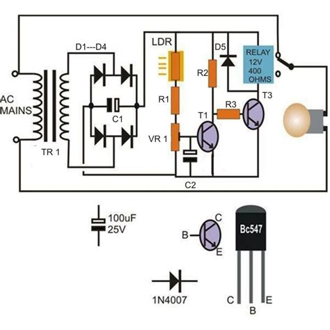 How Make Light Activated Day Night Switch Circuit