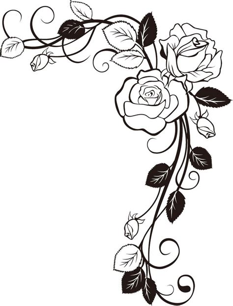 roses outline    clipartmag