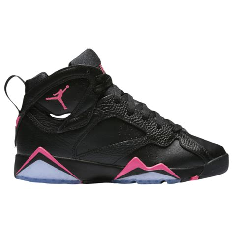 jordan retro  girls grade school basketball shoes blackhyper pinkhyper pink