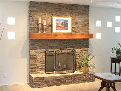 Stone Fireplace Remodel Ideas Stacked Stone Fireplace