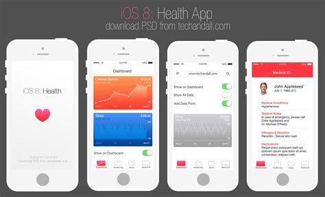 apple ios 8 health app mockup tech all