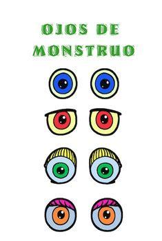 body parts spanish create   monster  spanish
