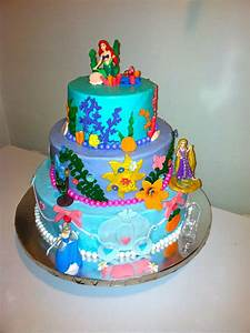 Disney Princess Cake Arial Rapunzel And Cinderella Bc