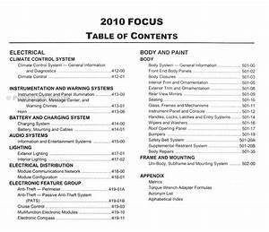 2010 Ford Focus Repair Shop Manual Original