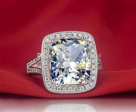2018 Fast Luxury Quality Diamond Wedding Ring Amazing 8 Ct Cushion Cut Synthetic Engagement