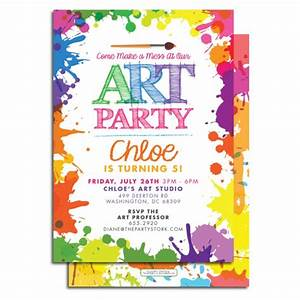 7 best images of art party invitations printable paint birthday party invitation template for Free art party invitation templates