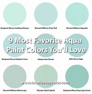 9 Most Favorite Aqua Paint Colors You'll Love - Interiors