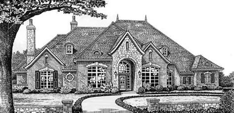 european house plans one story european style house plans 3494 square foot home 1 story 4 bedroom and 3 bath 3 garage