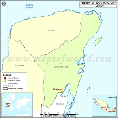 Location Of Chetumal In Mexico Map