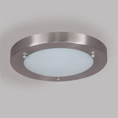 mari bathroom ceiling large flush light satin nickel