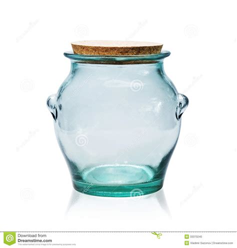 pot en verre vide avec le bouchon de li 232 ge photo stock