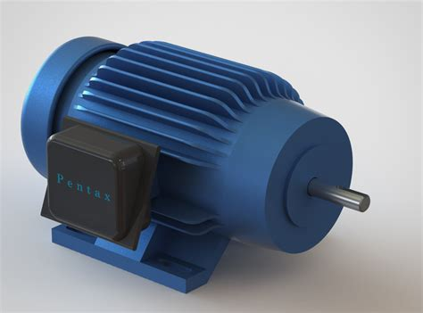 Electric Motor Model by Electric Motor 3d Cad Model Library Grabcad