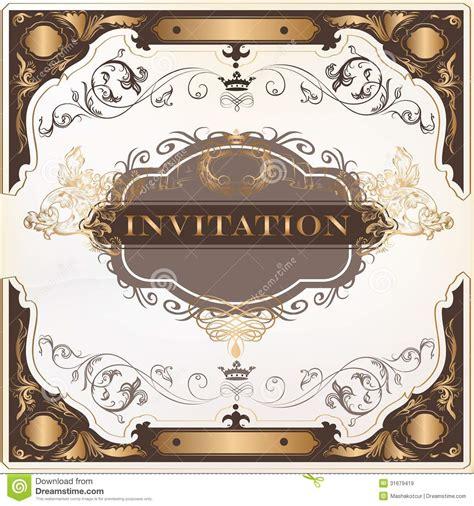 Elegant Invitation Vector Card For Design Stock Vector