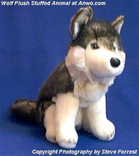 wolf stuffed animal plush cub  anwocom animal world