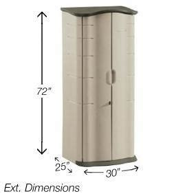 Rubbermaid Vertical Storage Shed 53 Cubic by Rubbermaid Outdoor Vertical Storage Shed