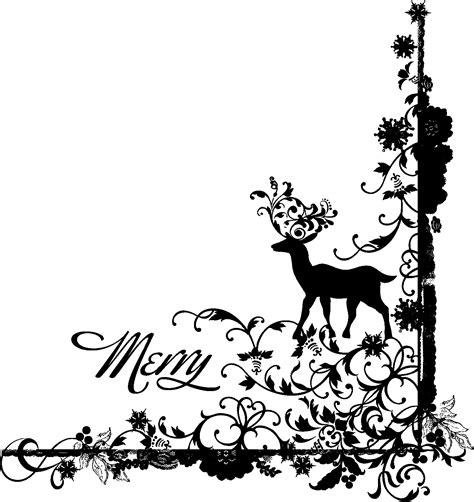 black  white christmas clipart borders png  cliparts