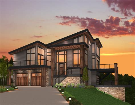 Shed Roof House Plan By Mark Stewart Home Design
