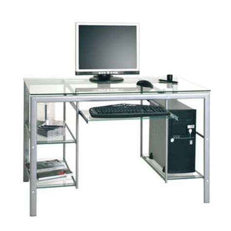 bureau ordinateur en verre table ordinateur verre