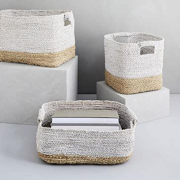 tone woven baskets naturalwhite west elm