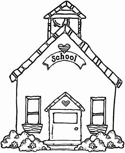 Clipart Clip Schoolhouse Outline Drawing Clipartfest Cliparts