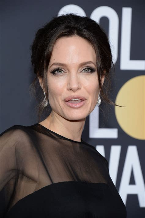 ANGELINA JOLIE at 75th Annual Golden Globe Awards in ...