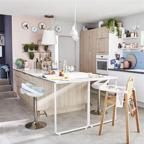 ilot central cuisine leroy merlin meuble de cuisine décor bois delinia nordik leroy merlin
