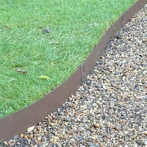 Brown, Flexible, Steel, Lawn, Edging