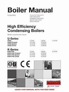 High Efficiency Condensing Boilers Manual