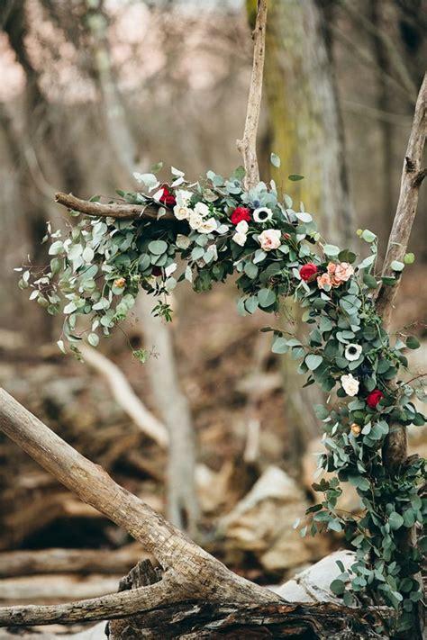 eucalyptus wedding ceremony arch