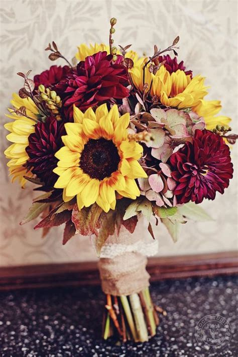 ideas  fall wedding flowers