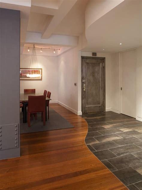 tile  wood combonation flooring design pictures
