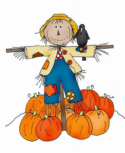 Scarecrow Festival Friendly Clipart Harvest Colored Fall
