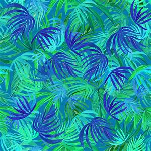 Watercolor Tropical palm Neon green & blue watercolor
