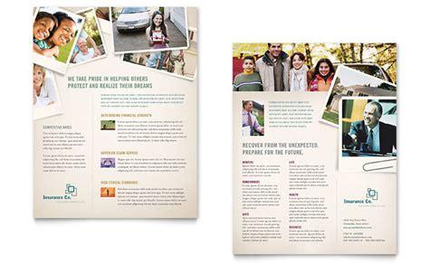 life insurance company datasheet template design