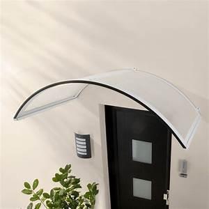 auvent en kit onyx l158 x p75 x h38 cm leroy merlin With porte d entrée alu avec eclairage salle de bain au dessus miroir