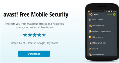 free mobile security protection for your android avast 5 best antivirus for android phones smartphone security tips