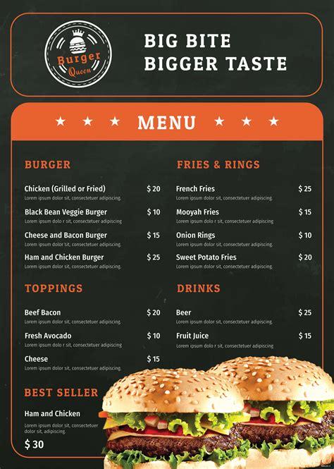 burger menu template  adobe photoshop microsoft