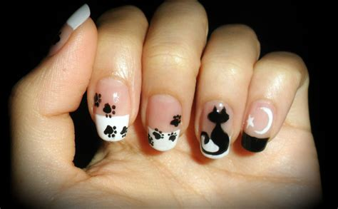 cat nail designs 50 classic black and white nail designs