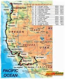 West Coast USA Map