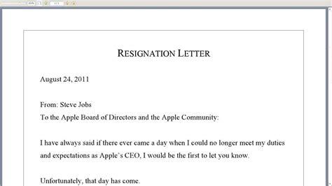 steve jobs resignation letter youtube