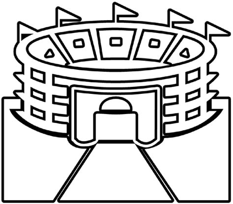 football stadium clipart black and white stadium outline clip at clker vector clip