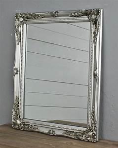 Kerzentablett Silber Rechteckig : spiegel wandspiegel silber barock holz badspiegel landhaus cottage holzrahmen ebay ~ Indierocktalk.com Haus und Dekorationen