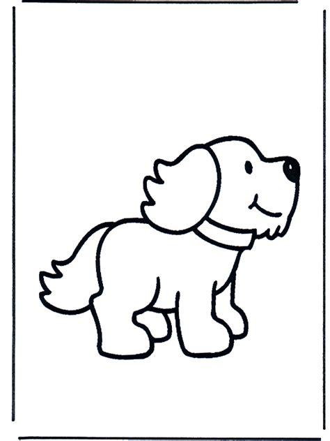 hondje kleurplaat dieren