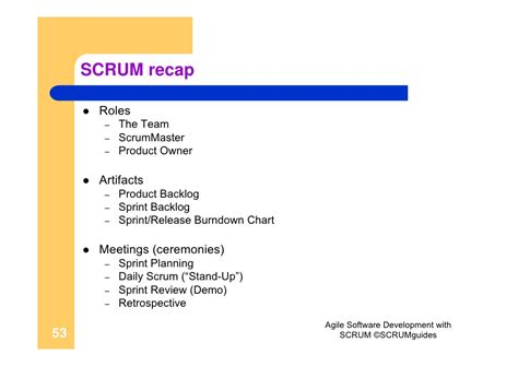 Agile Software Development With Scrum Resume by Agile Software Development With Scrum