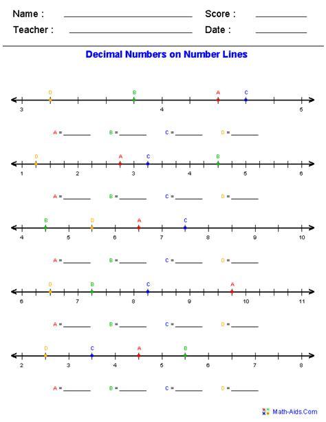 number line worksheets dynamic number line worksheets