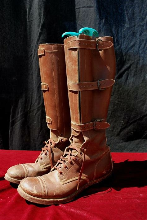 Army Semi Boot vtg 40s wwii cavalry boots us army 1941 tanker