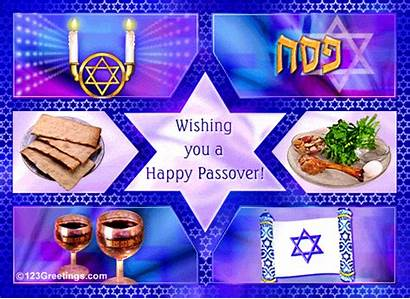 Passover Ancient Celebration Beginning Happy Pesach Greetings