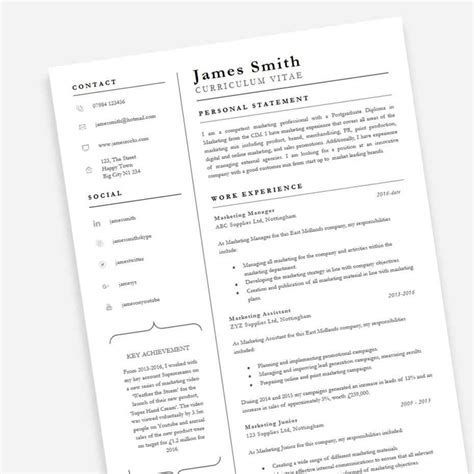 It Professional Cv Template by Achiever Professional Cv Template Cv Template Master